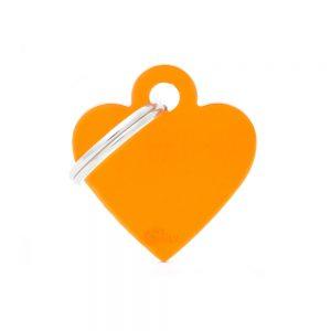 Orange hjerte hundetegn